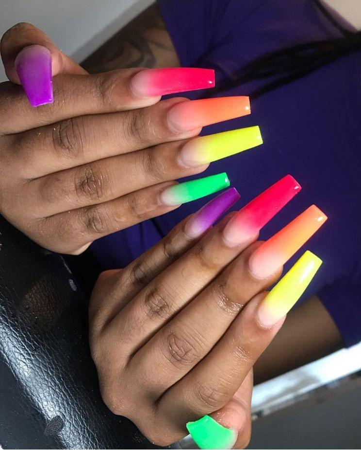 Armaniasia Nail Shapes Cute Nails Rainbow Nails