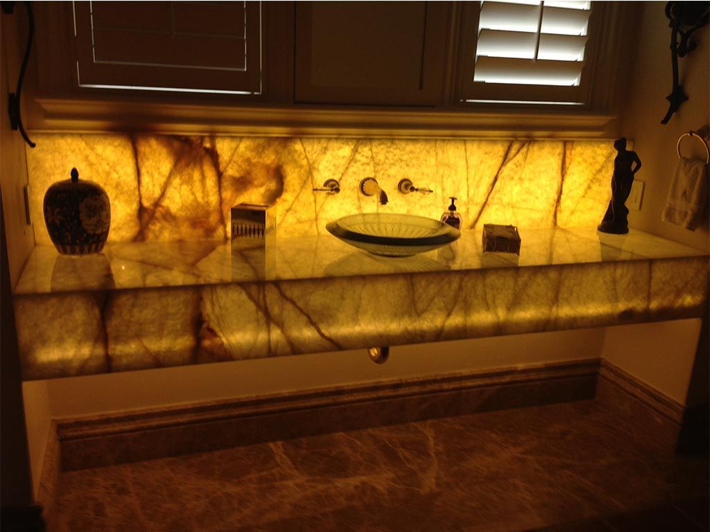 Beautiful Backlit Onyx Bathroom Washroom Backlit Onyx Sinks Backlit Onyx Stone  Backlit Onyx Wall Detail Backlit Onyx Countertops Home Design Photos
