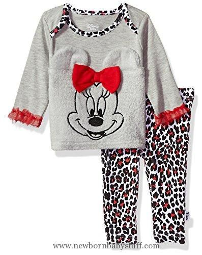 Baby Girl Clothes Disney Baby Girls Minnie Mouse 2 Piece Pant Set