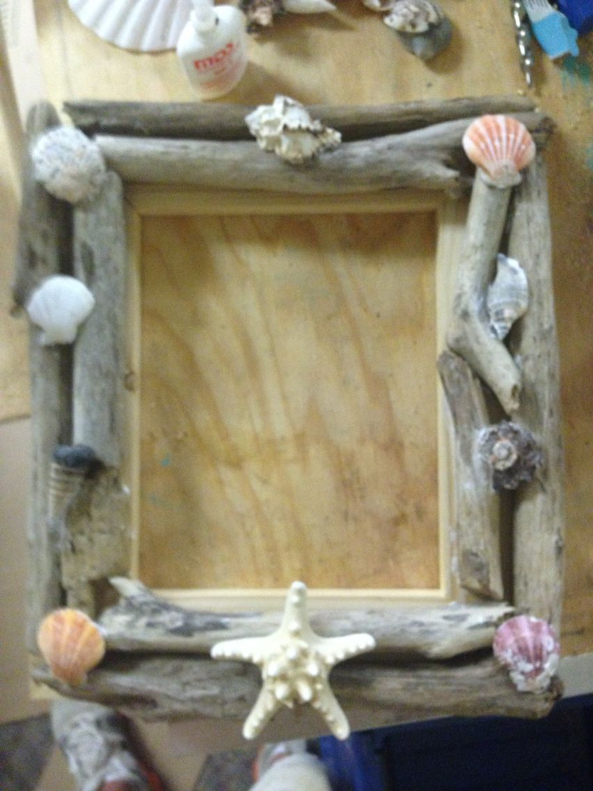 Driftwood from Galveston tx. that I made into 5x7 frame. | Picture ...