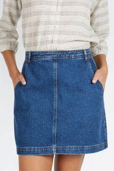 3cf0f3740bc97b Fat Face Denim Ella Mini Skirt