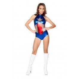 39e1011d4294a Enhanced American Hero 1pc Sexy Fantasy Costume in 2019   Halloween ...