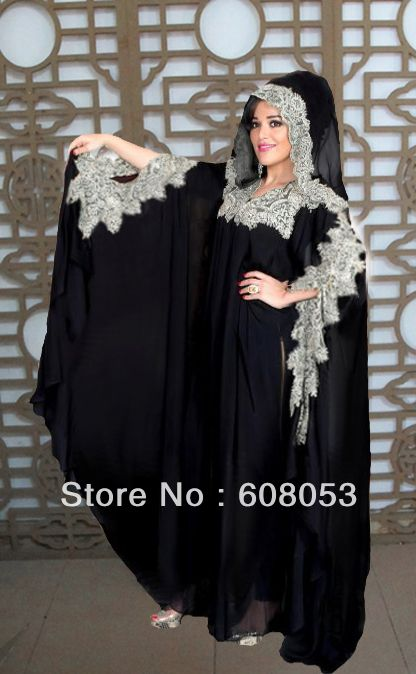 v tements la mode abaya noire 2013 l gante yx022. Black Bedroom Furniture Sets. Home Design Ideas