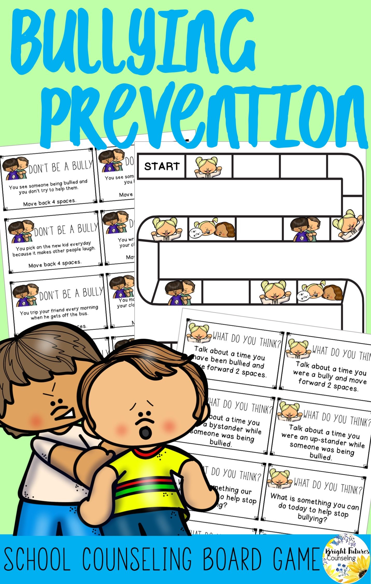 Bullying Prevention Board Game School Counseling Game