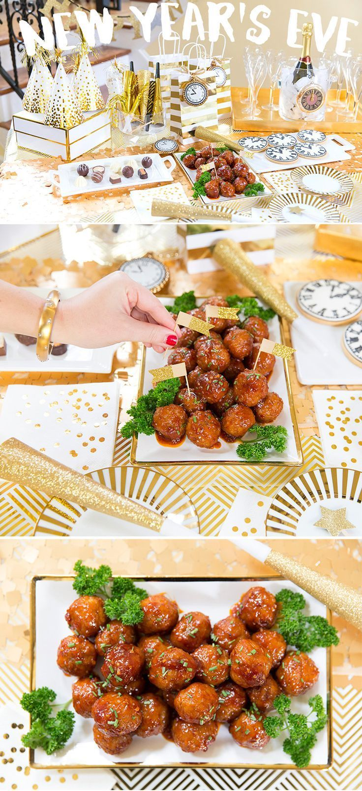Host a stylish new years eve party recipe for sweet n spicy host a stylish new years eve party recipe for sweet n spicy meatballs forumfinder Choice Image