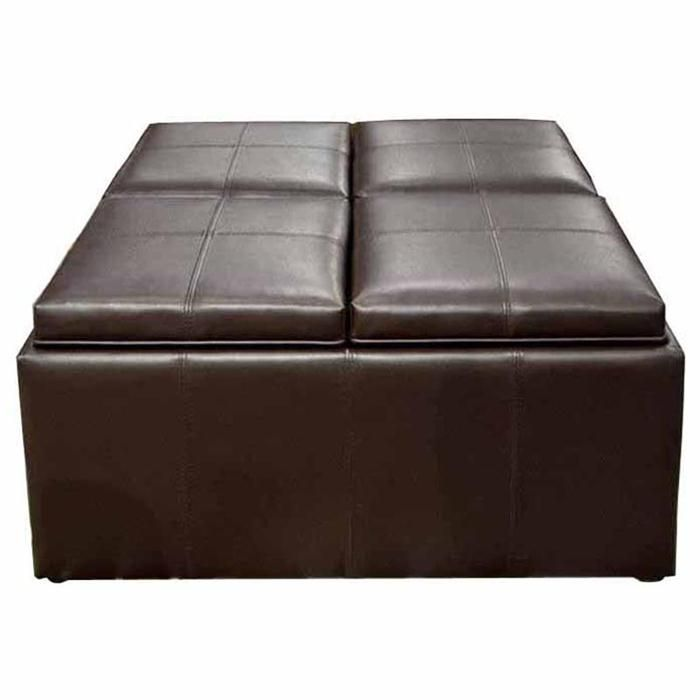 Outstanding 9 Piece Cocktail Ottoman In Chocolate Brown Nebraska Gamerscity Chair Design For Home Gamerscityorg