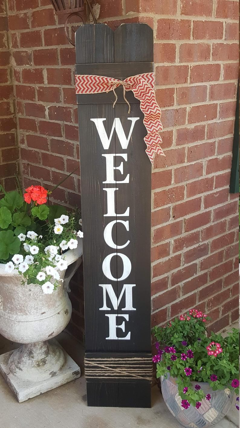 Welcome Sign Welcome Sign for Front Door Front Porch Decor  Etsy
