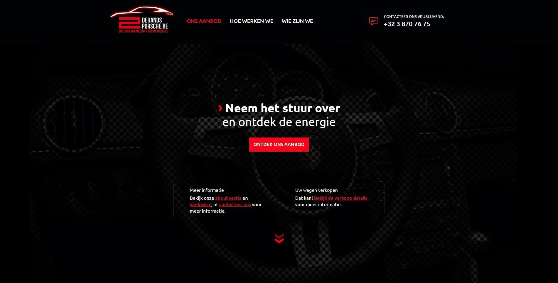 Nieuwe website voor http://2dehandsporsche.be/nl/