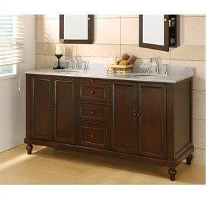 Double Sink Vanity Dark Stain Light Top Bathroom Sink Vanity Double Vanity Bathroom Bathroom Vanity Cabinets