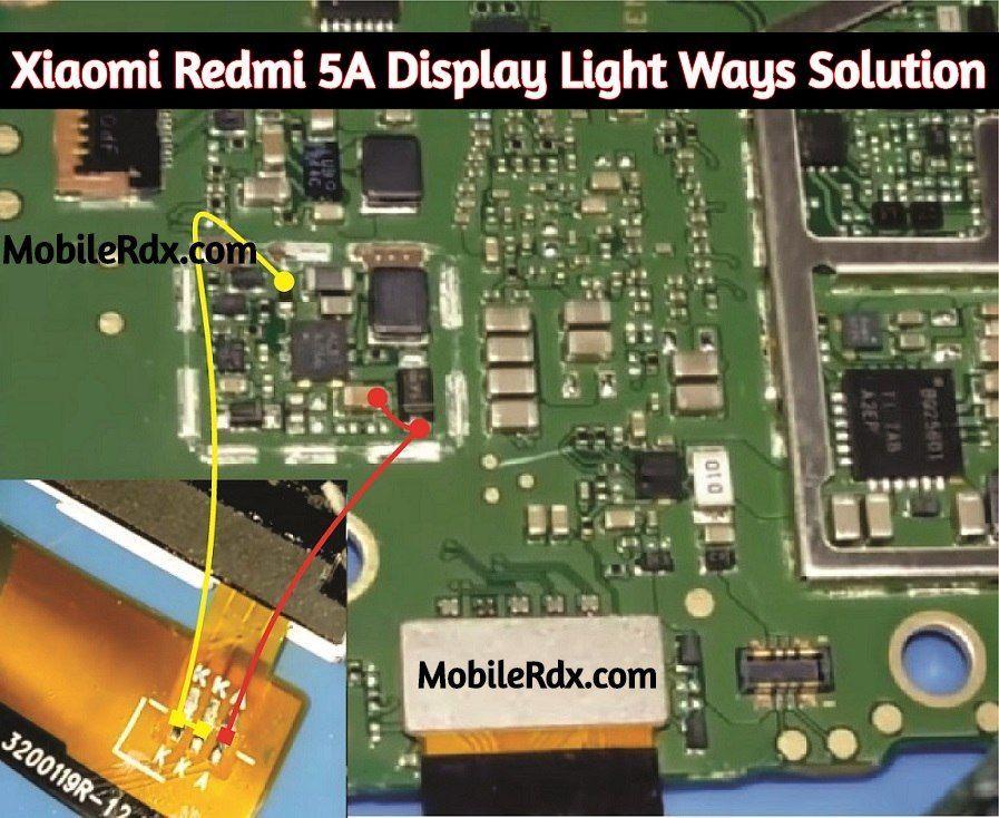 Xiaomi Redmi 5a Display Light Ways Backlight Jumper Solution Redmi 5a Lcd Light Not Working Problem Repair Solution Disp Light Display Xiaomi Smartphone Repair