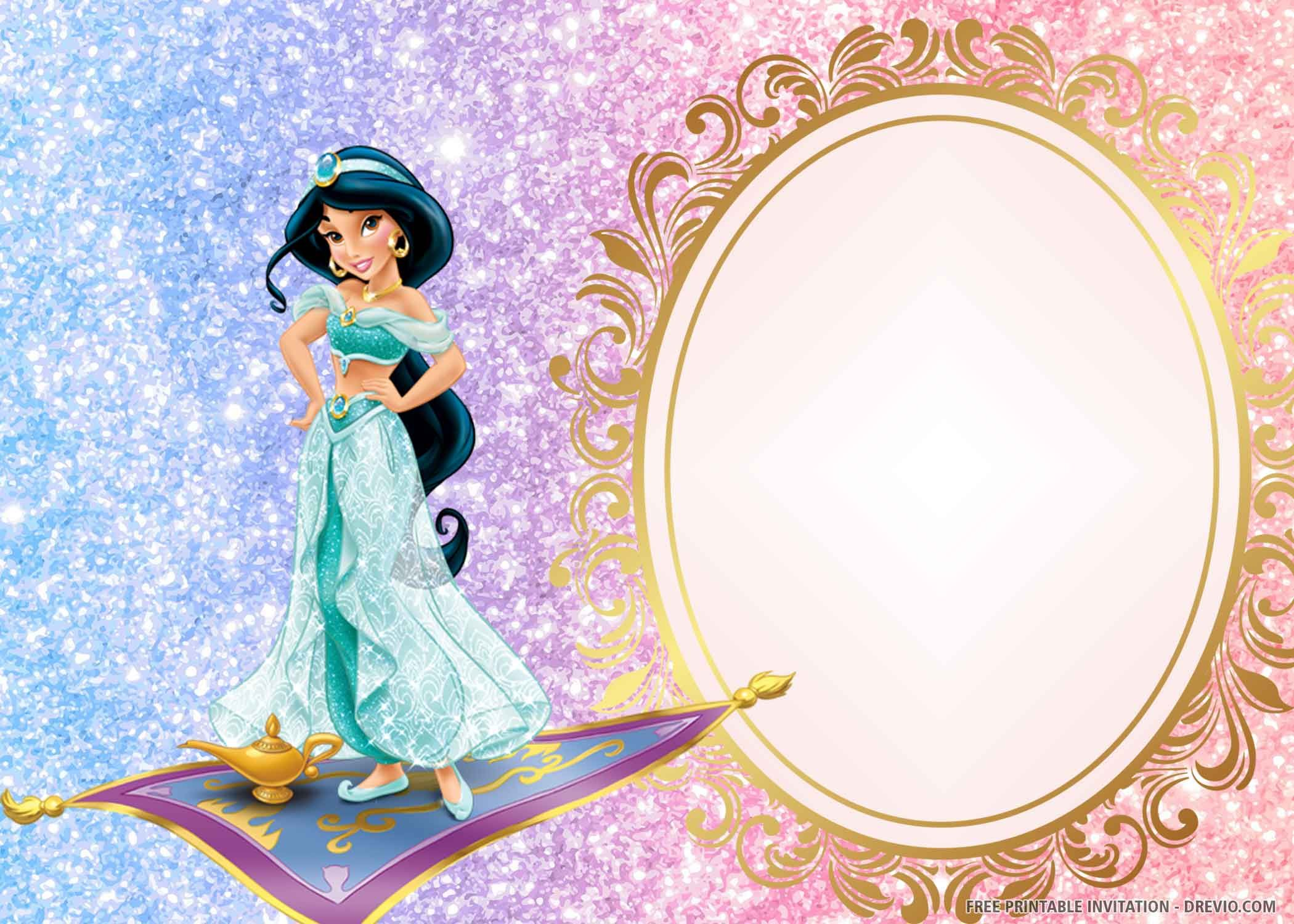 free printable princess jasmine