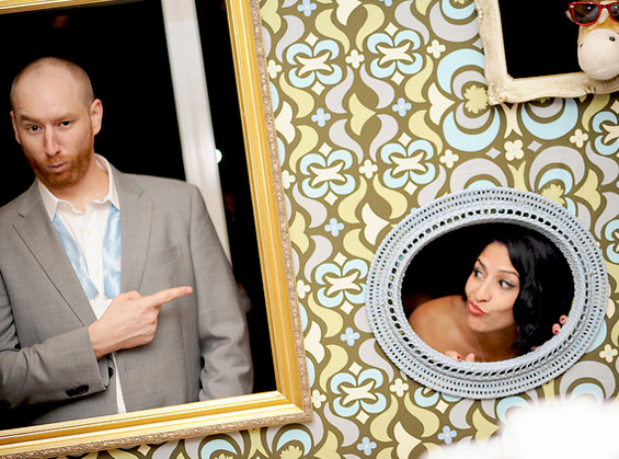 I've got all the stuff to make my very own photo booth. Just need to find someone as talented at DIY as this pair.