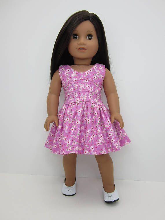 muñeca de 18 pulgadas ropa de color rosa con bastante flor   18 inch ...