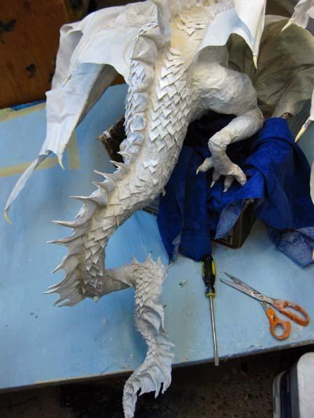 New Paper Mache Dragon- Head and Scales   Dragons   Paper mache