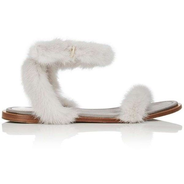 57e6ae1586fe Valentino Women s Mink Fur Wraparound Ankle-Strap Sandals (€1.170) ❤ liked  on