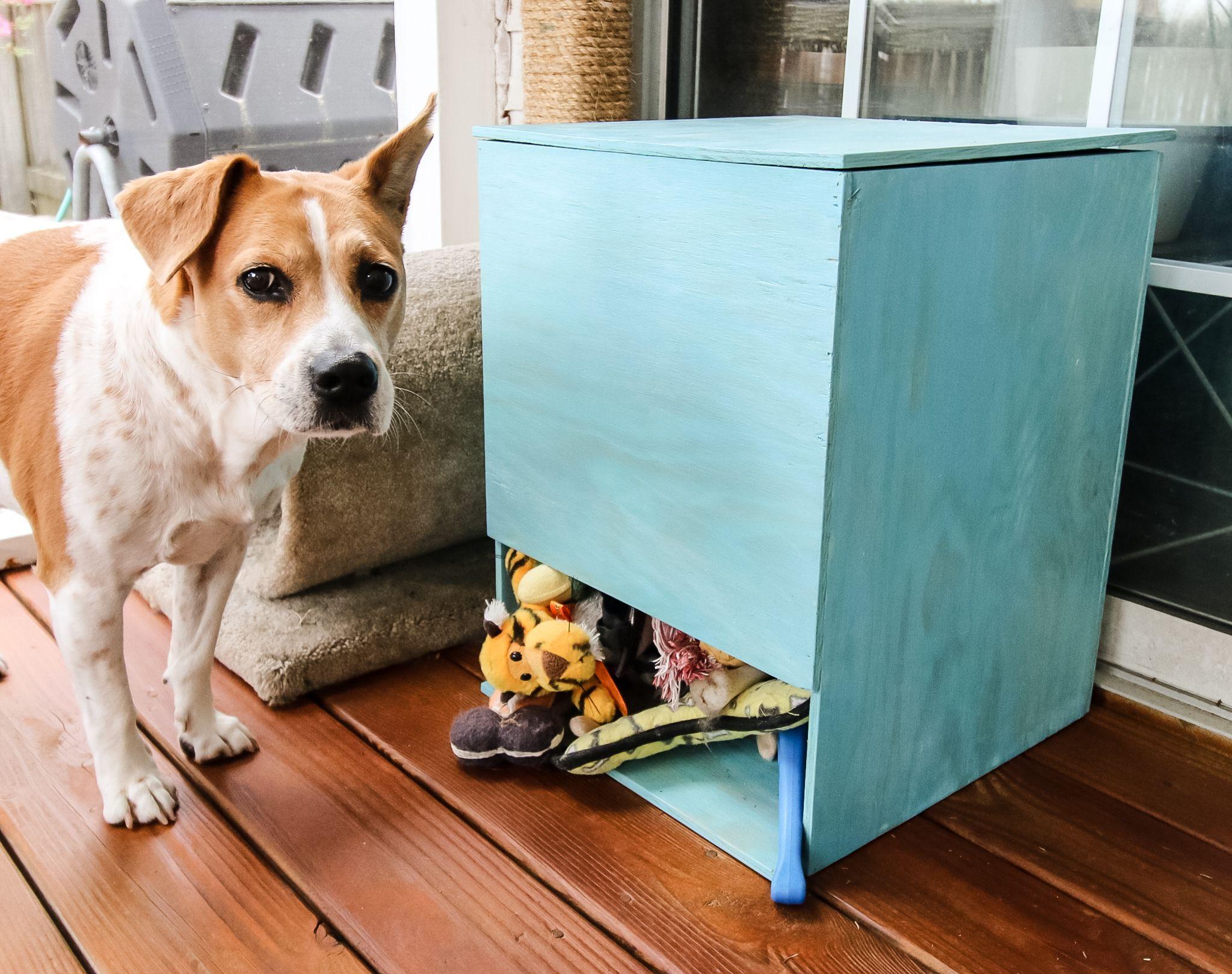DIY Dog Toy Storage Bin- FREE PDF Plans