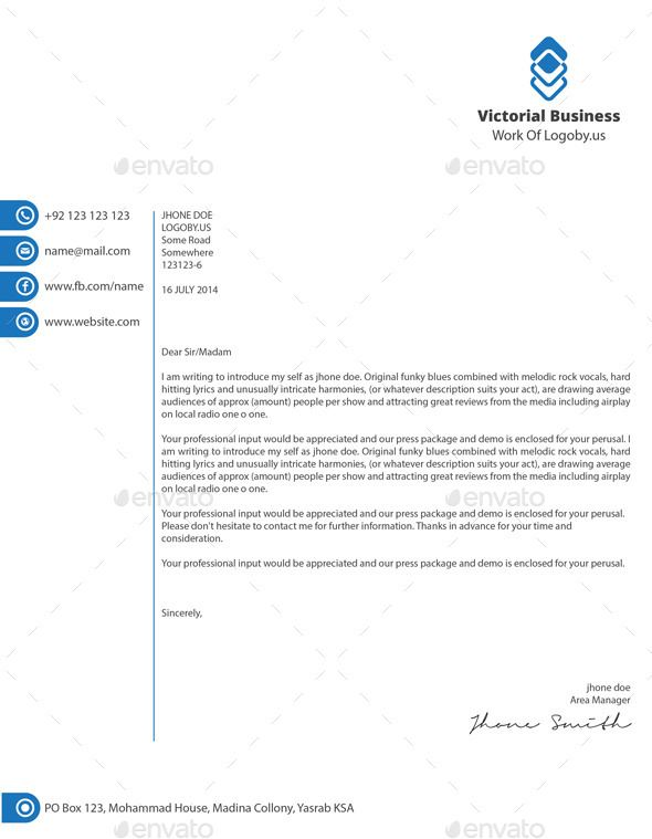 business letterhead templates word and psd for corporates creator - business letter template word