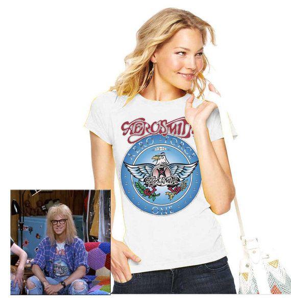 Lady Wayne/'s World Algar Aerosmith T-shirt Halloween Costume Shirts