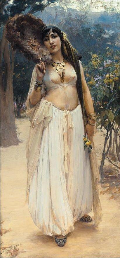 世界のステキな民族衣装 @suteki_minzoku アメリカ人画家、Frederick Arthur Bridgmanの作品。 アルジェリア、エジプトへの旅行を経てオリエンタルなモチーフを描き、「Orientalist」として人気を博した。