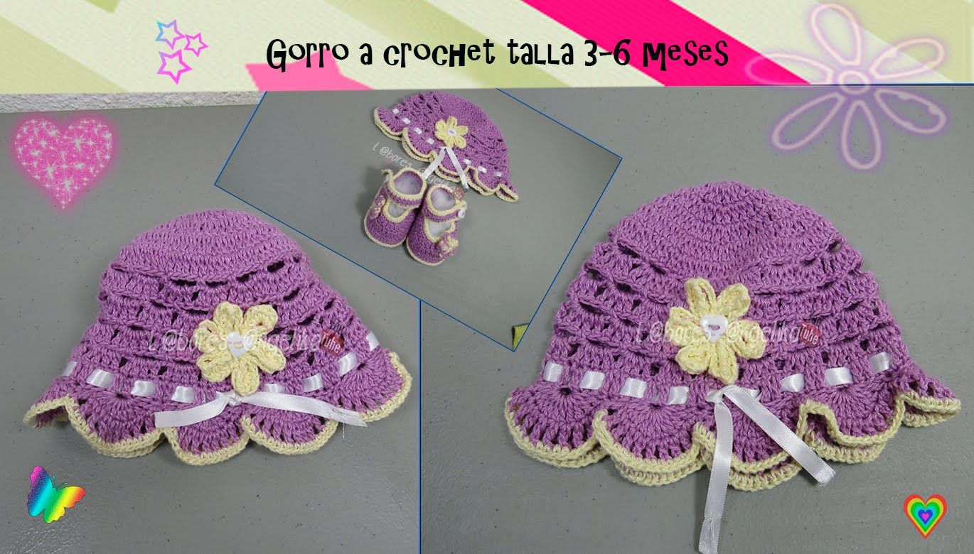 Gorro a crochet talla 3 6 meses crochet hat video tutorials gorro a crochet talla 3 6 meses crochet hatsvideo baditri Image collections
