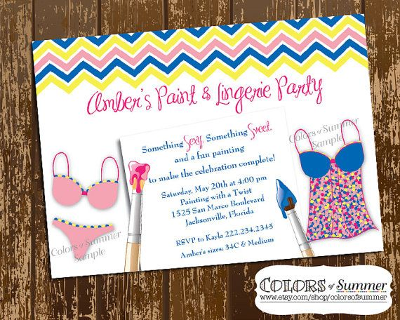 colors of summer bridal shower digital invitations collection size 5x7 like me on facebook