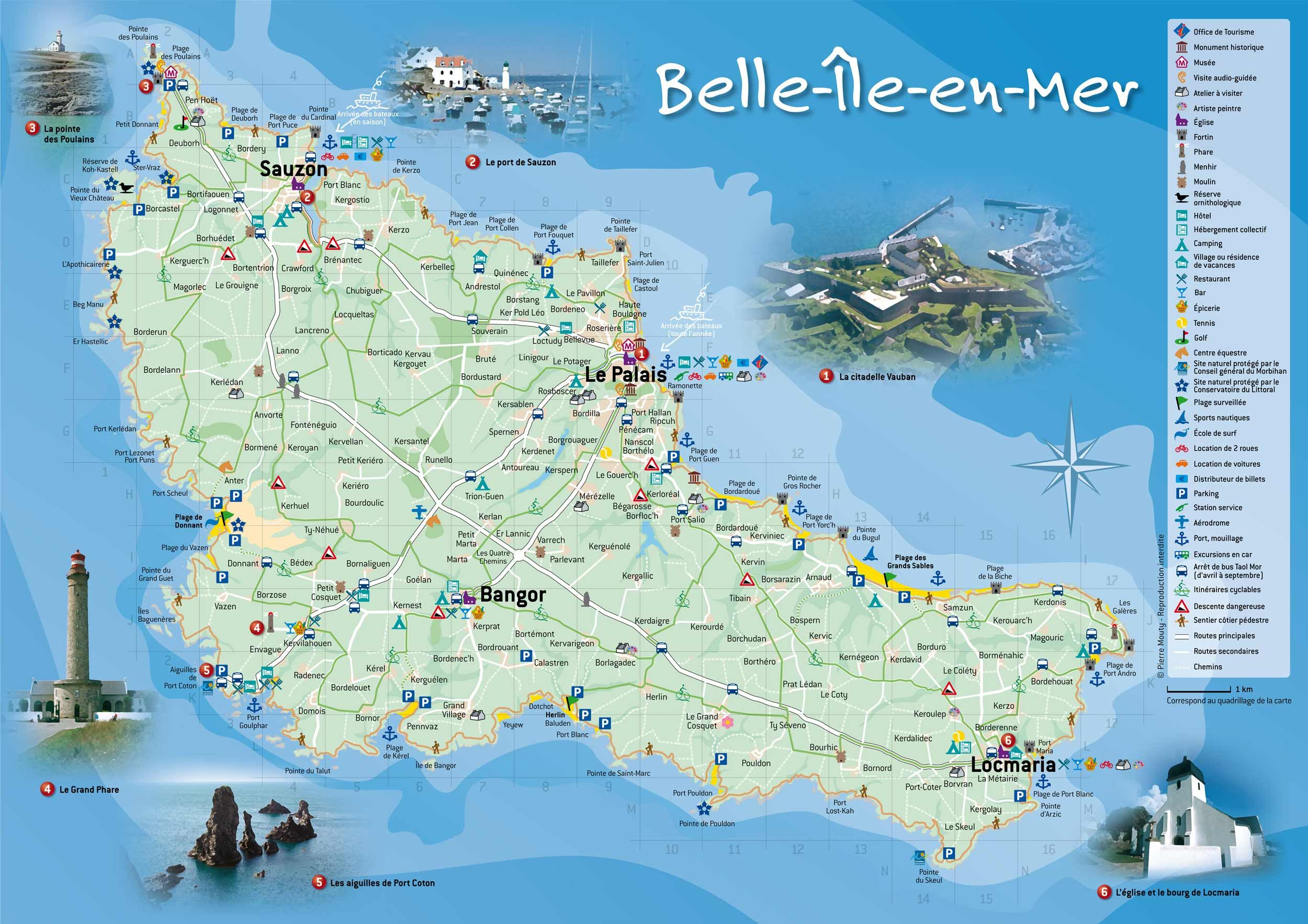 carte de belle ile Carte de l ile Belle ile en mer | Belle ile en mer, Iles du ponant