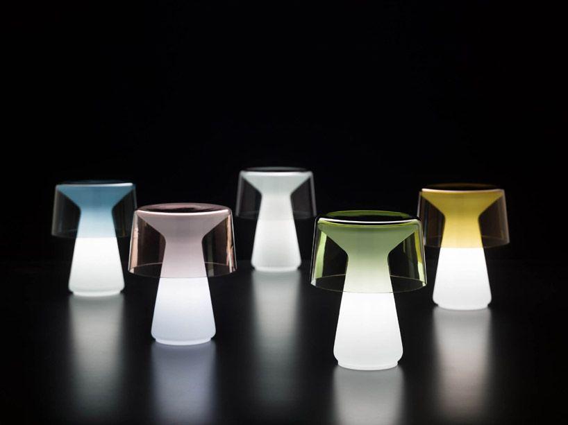brogliatotraverso nelly murano glass table lamp designboom