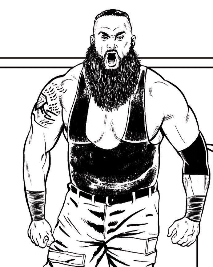 WWE Wrestler Braun Strowman by Brent Schoonover. # ...