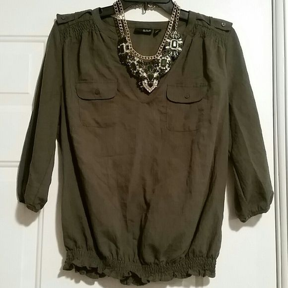 Lady's Top size Medium Like new women's top size Medium. Wore 1 time, only. Super cute and stylish! a.n.a Tops Blouses