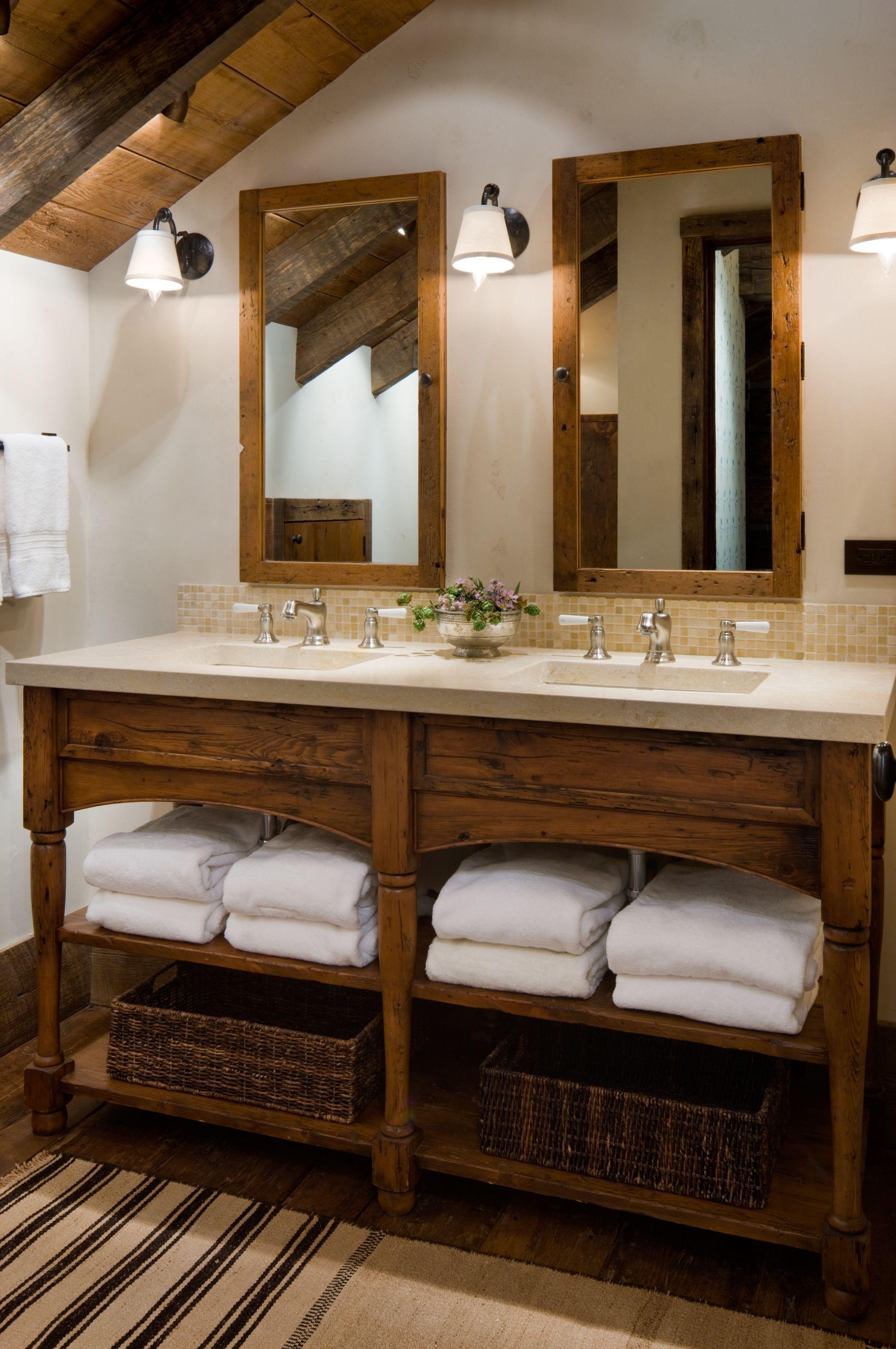 Great Point Lodge Arredamento Bagno Rustico Design Bagno