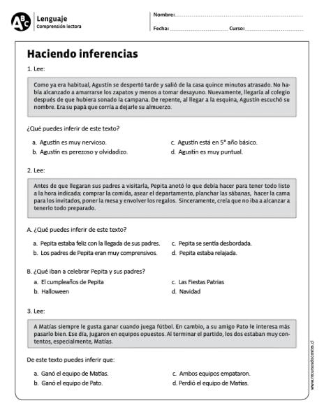 Haciendo inferencias | trabajo | Pinterest | Hacer inferencias ...