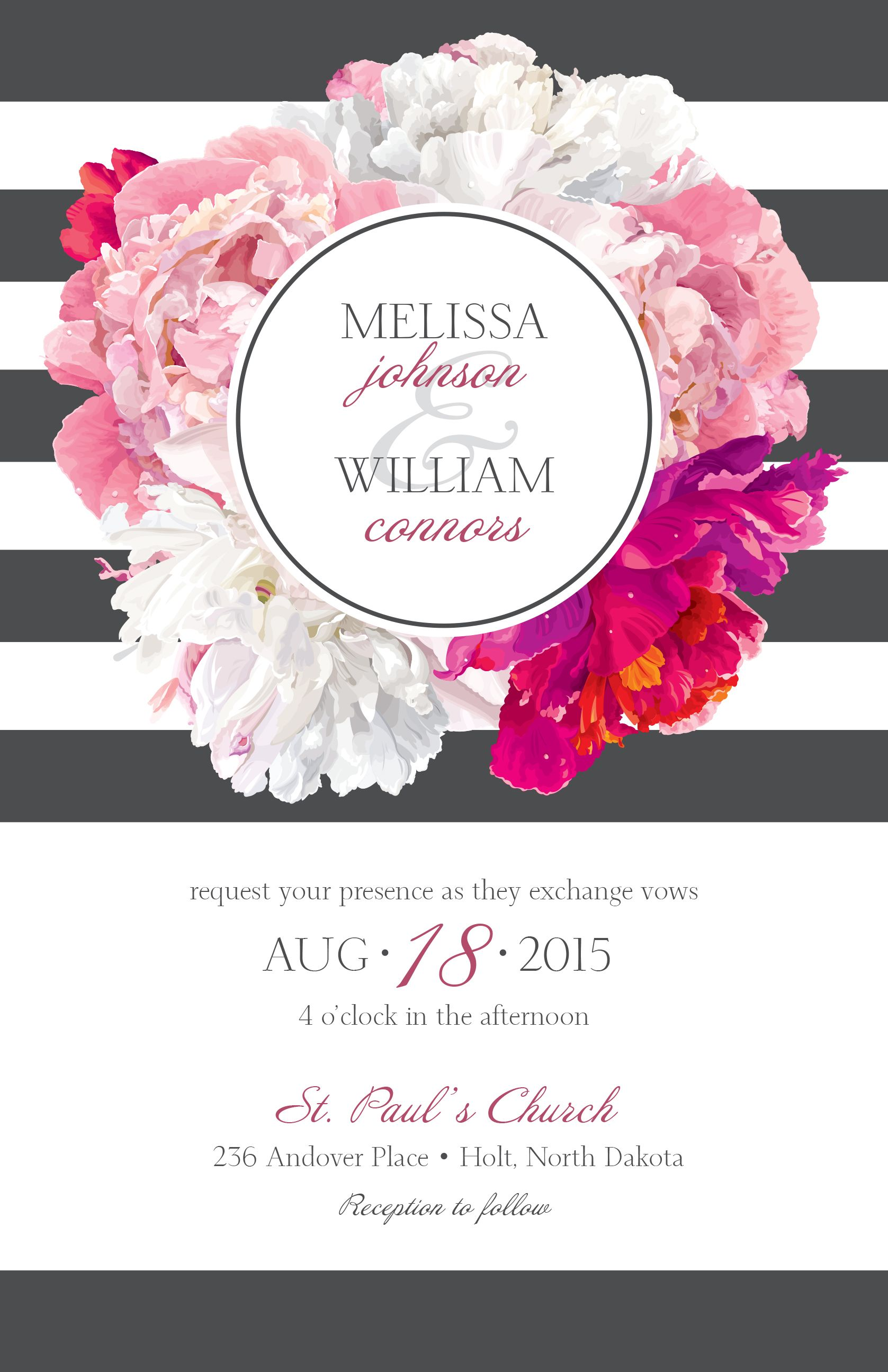Floral Wedding Invitation Vistaprint Wedding Invitations Custom Wedding Stationery Custom Wedding Invitations