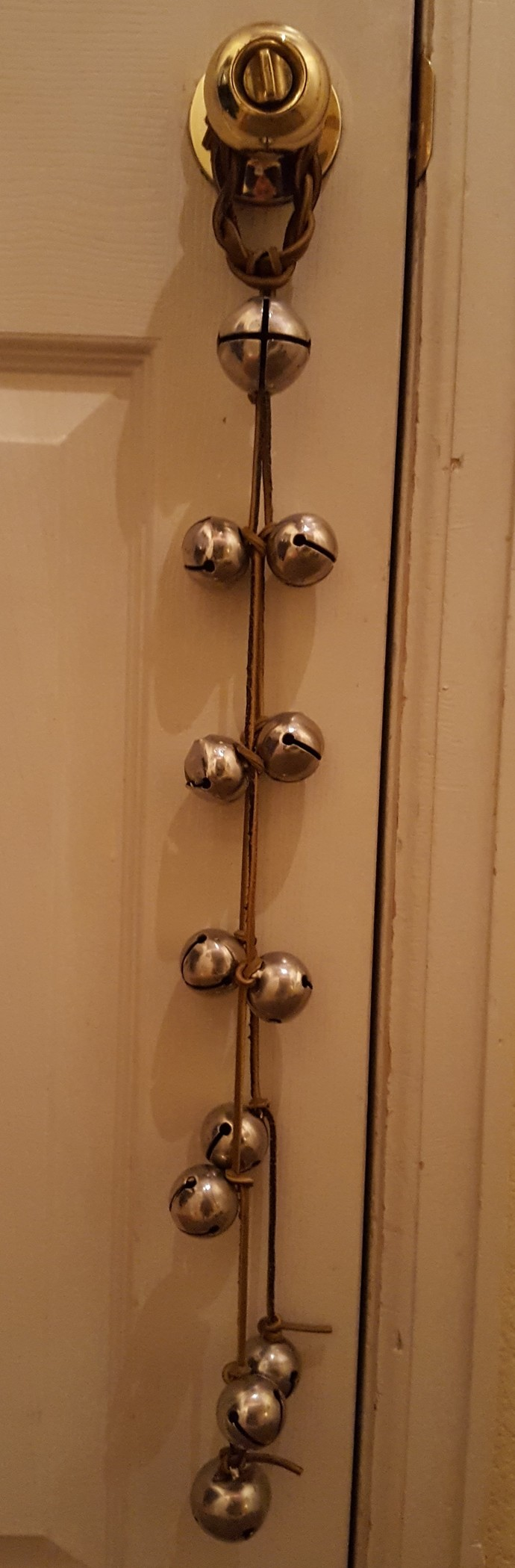 sleigh bell door hanger by Why Knot, $30.00 USD | Knots | Pinterest ...