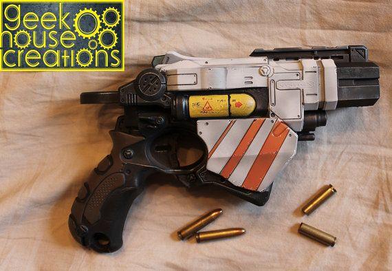 Custom SILVER Painted Nerf Dart Gun Maverick Rev 6 N-Strike Cosplay Comic  Con