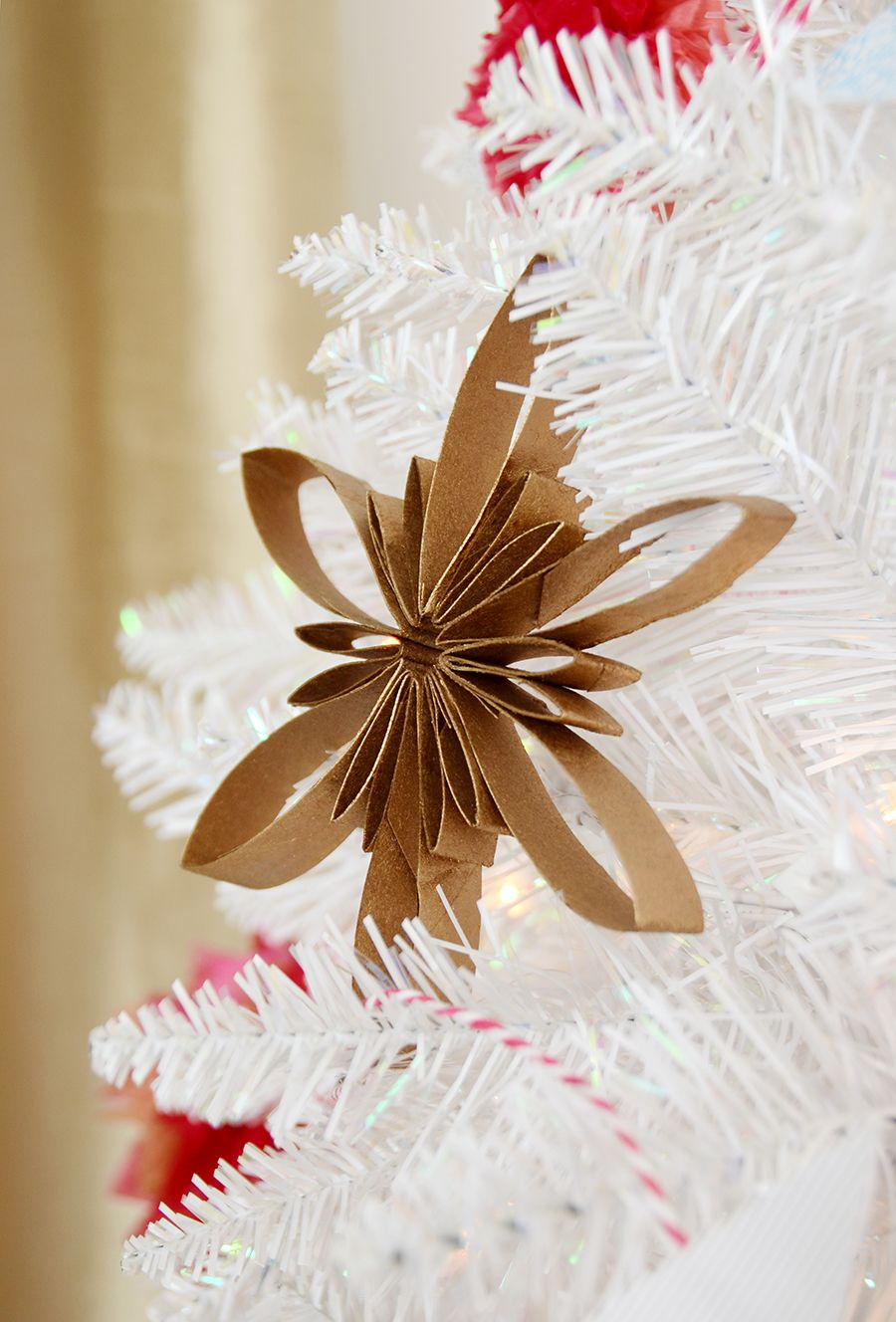Three DIY Recycled Paper Tree Decorations