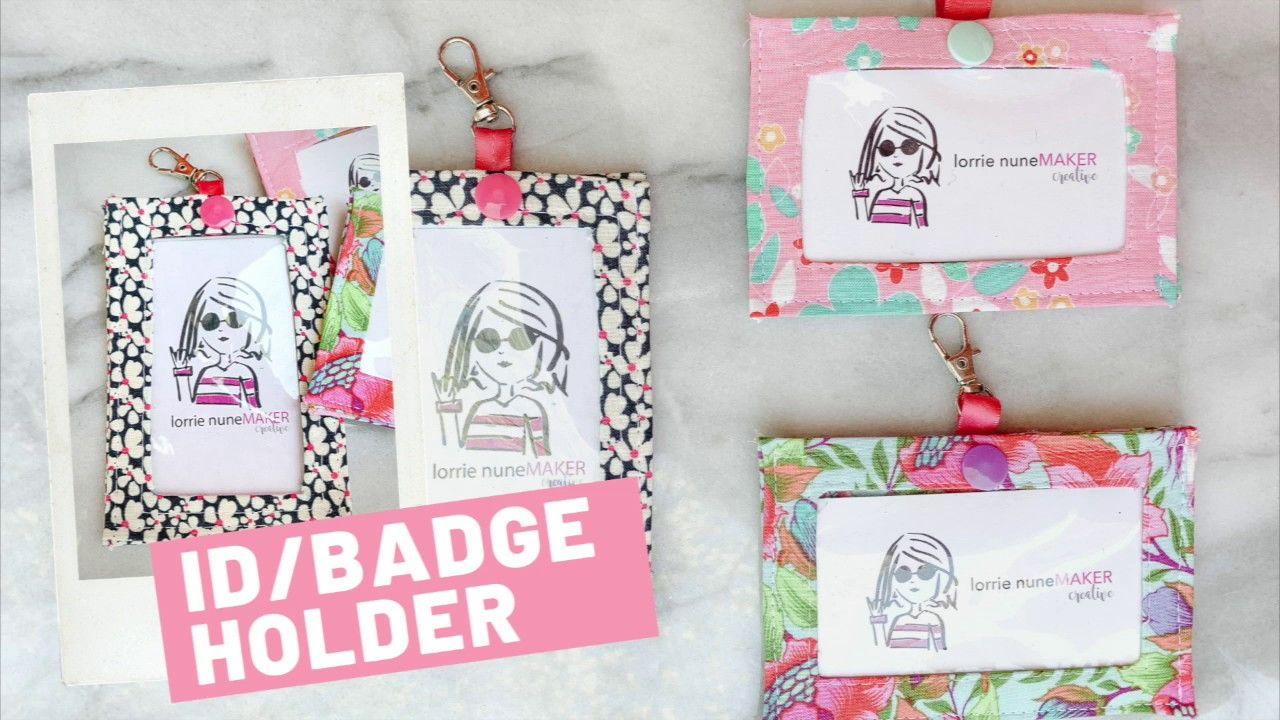 Id Badge Holder Free Pattern Beginner Friendly Id Badge Holders Badge Holders Badge Holders Diy
