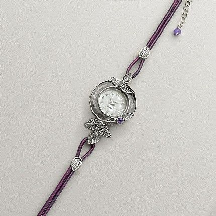 Silver Leaves Watch