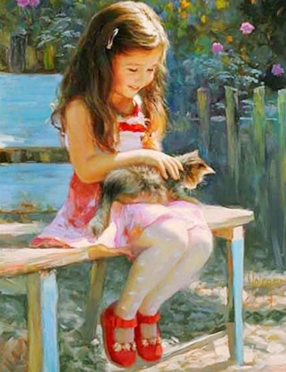девочка картина по номерам - Поиск в Google | Картины