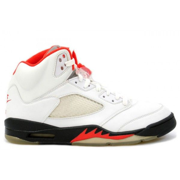 premium selection 65336 097e1 136027 101 Nike Air Jordan 5 V Retro-Fire Red (White Black-