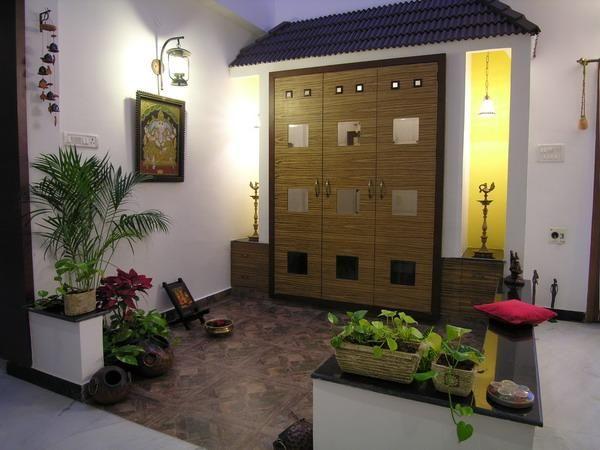 Pooja room design home mandir lamps doors vastu idols placement also best images wooden indian decor rh pinterest
