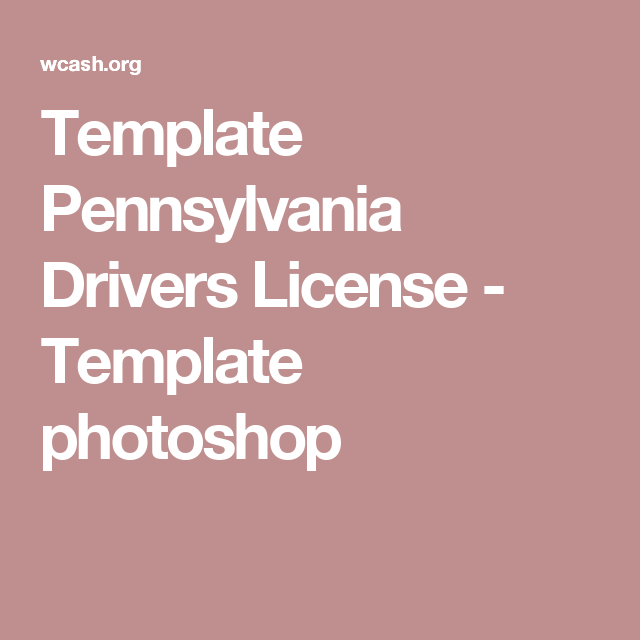 template pennsylvania drivers license