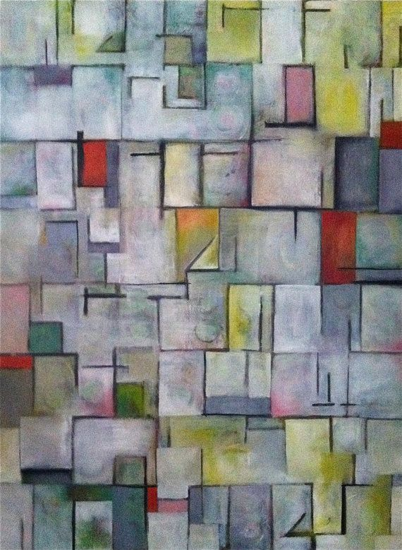 """Original Large Abstract Oil Painting on stretched canvas, Original Modern Art, 36"""" x 48"""". $1,200.00, via Etsy."""