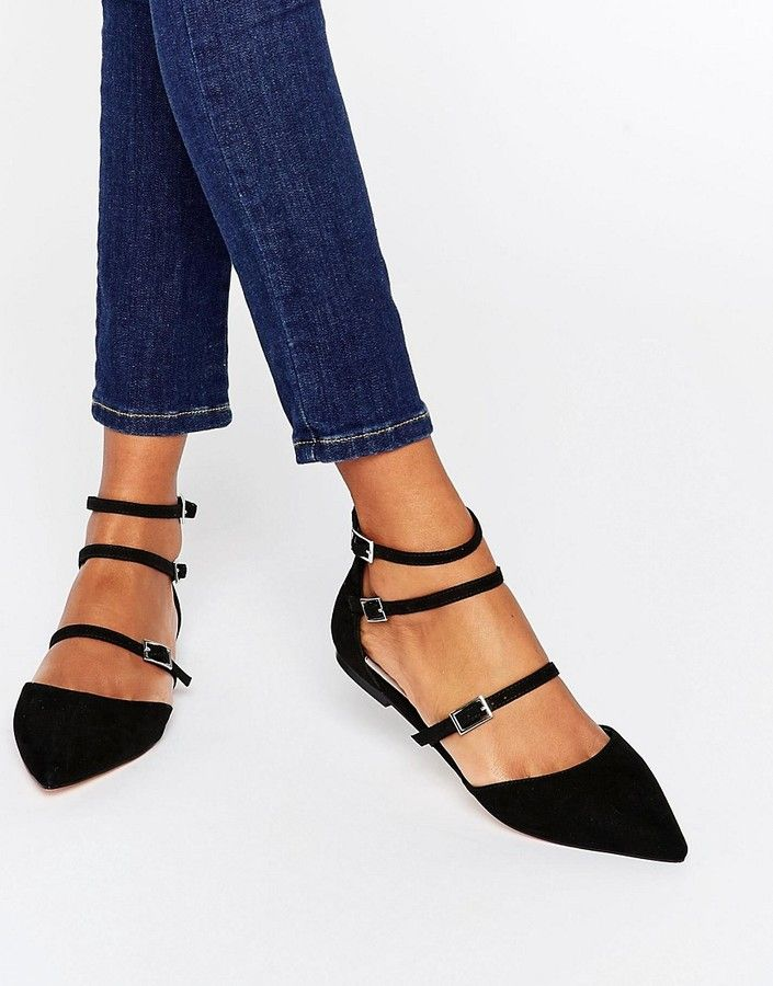 Love these great with dress, skirt or your favorite jeans. Faith Triple Strap Flat Shoes