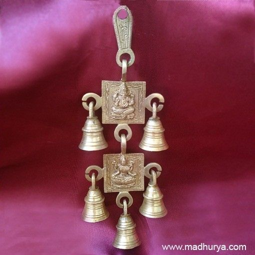 Bell Decor Delectable Hanging Bell Décor In Brass For Pujas And Traditional Backdrops Inspiration
