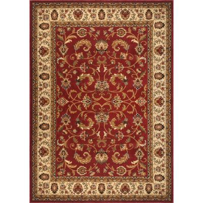 "Home Dynamix Royalty Red Area Rug Rug Size: 5'2"" x 7'2"""