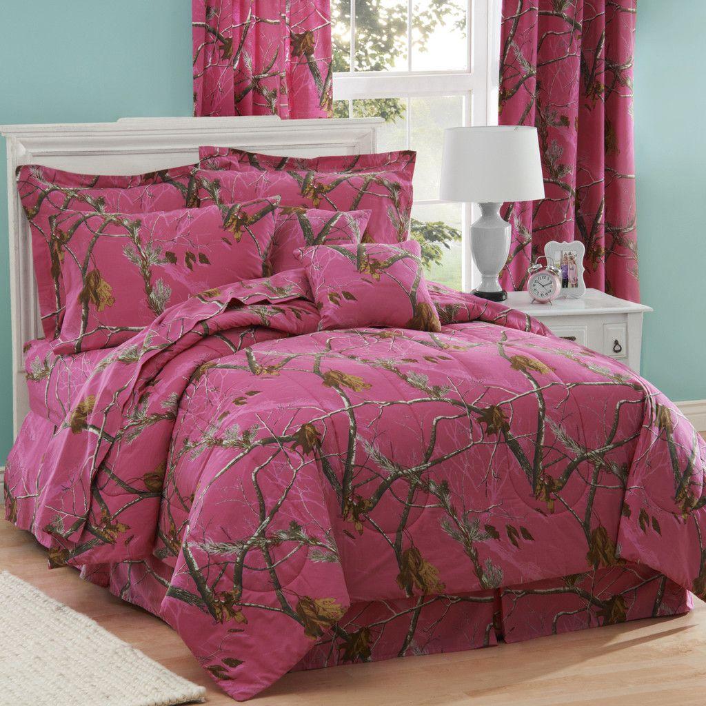 All Purpose Fuchsia Comforter Set (Queen Size) Pink camo