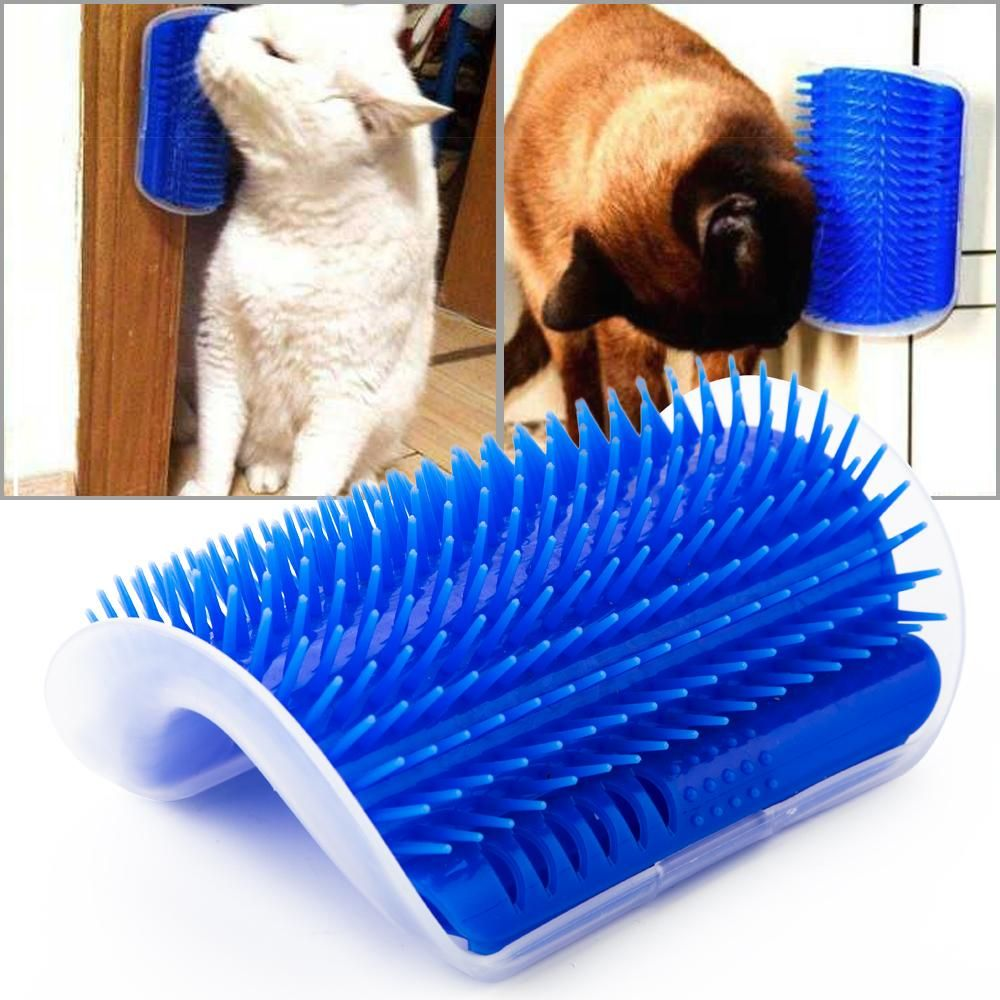Self Grooming Pet Hair Removal Brush With Catnip Big