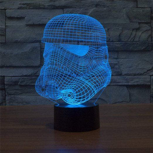 Robot Check 3d Led Night Light Color Changing Led 3d Light