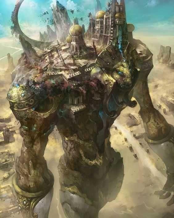 Huge fantasy monster art