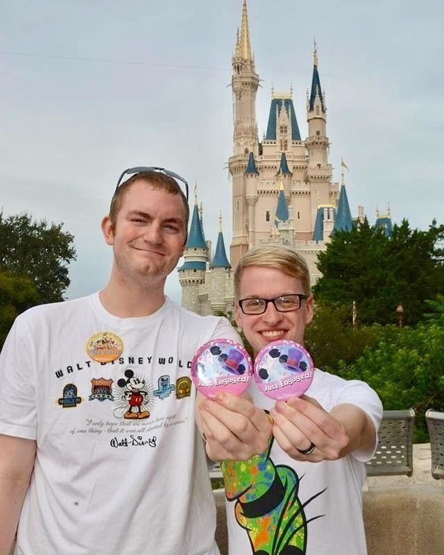 Jeremy Mobley and Eric Cotton got engaged on September 13 2015 at Magic Kingdom in Walt Disney World they love EVERYTHING Disney. They've been together for almost 4 years. They basically love anything Disney related! They're getting married on Sunday October 2nd 2016 at MillaNova Winery in Mt Washington KY.  #Engayged #LoveWins